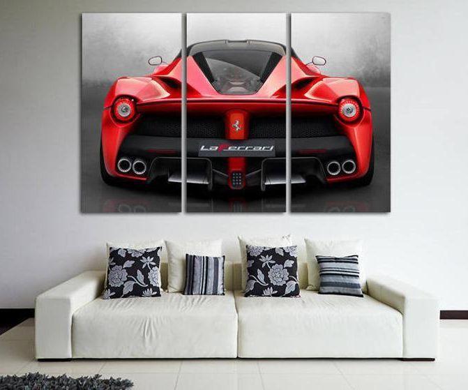 Ferrari Wall Art Living Room Decor Laferrari Photo Ferrari Etsy Wall Art Decor Living Room Boys Room Wall Art Car Wall Art