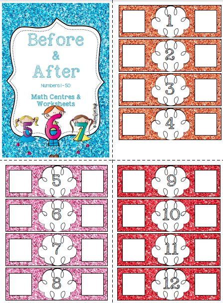 Before and After Numbers 1 - 50 | Numbers, Worksheets and Math