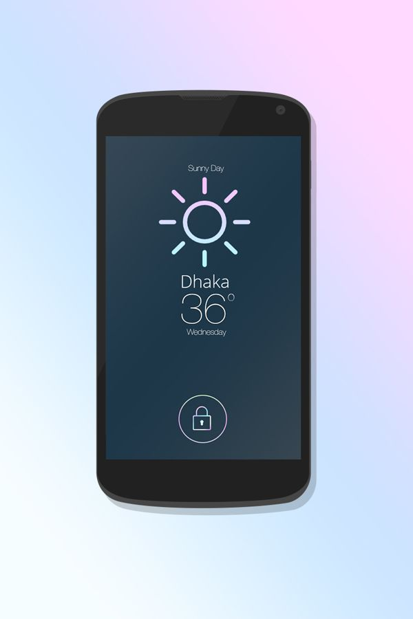 """iOS7 Lock Screen"" With ""Weather Update"" on Behance"