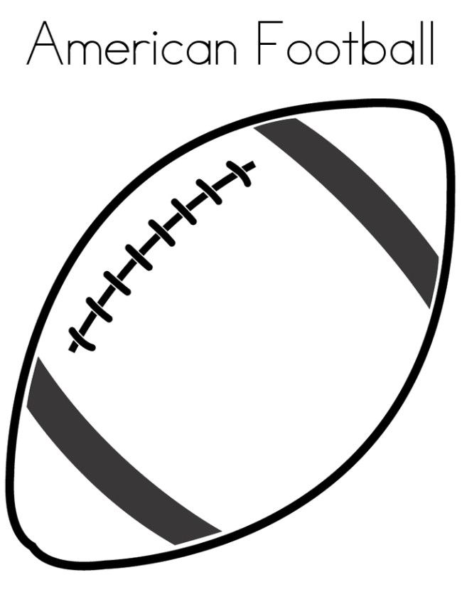 Ball Of American Football Coloring Pages | cake patterns | Football ...