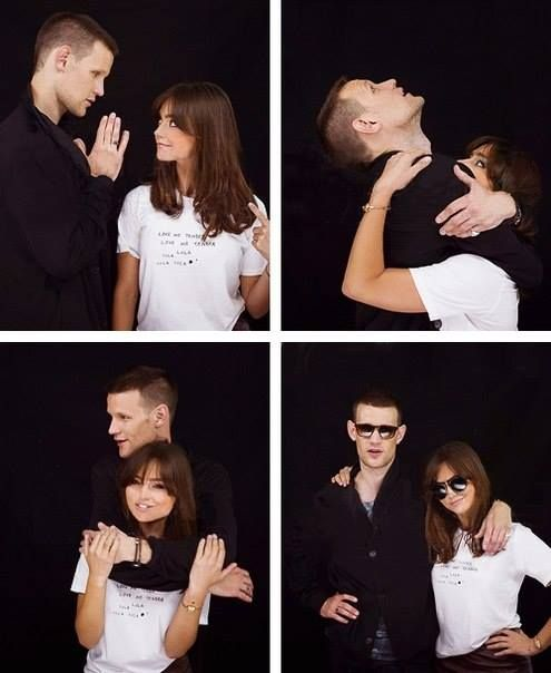Matt Smith and Jenna Louise Coleman. I love their friendship! <3