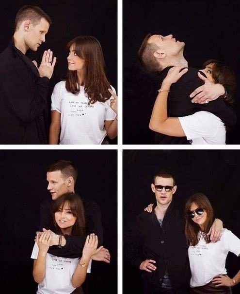 Matt Smith and Jenna Louise Coleman. I love their friendship! ♥