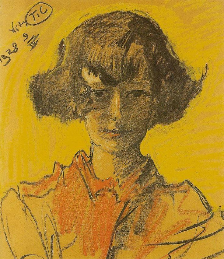 Portrait of Anna Nawrocka (1928) by Stanisław Ignacy Witkiewicz/ Witkacy…