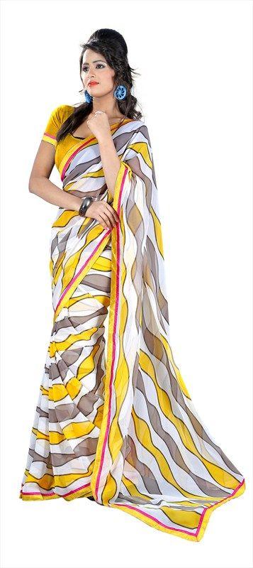 128115: #prints #neon #Trend2014 #saree