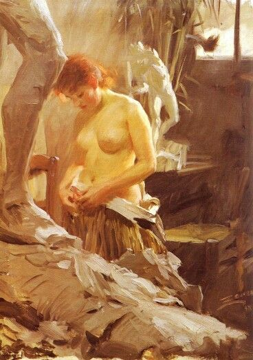 In Wikstrom Studio, Anders Zorn