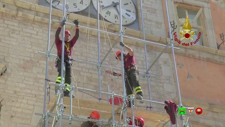 Vigili del Fuoco - Visso - Proseguo lavori al Palazzo dei Priori sede de...