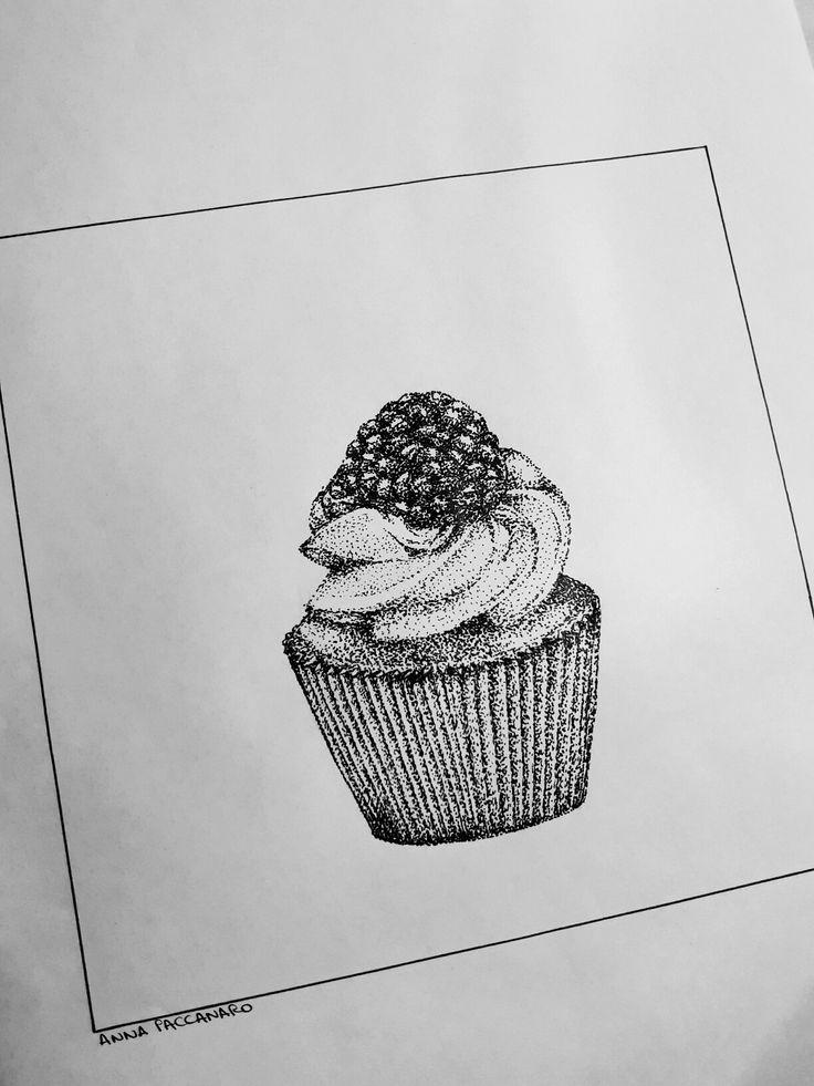 Quando ti chiedono di disegnare qualcosa che ti rappresenta😏🍦🍧🍰🎂🍭🍩🍫🍬🍨🍡 #art #instart #drawing #pencil #realism #artistic #cupcake #illustration #scuolainternazionaledicomics #2016 #unsaccodipuntini
