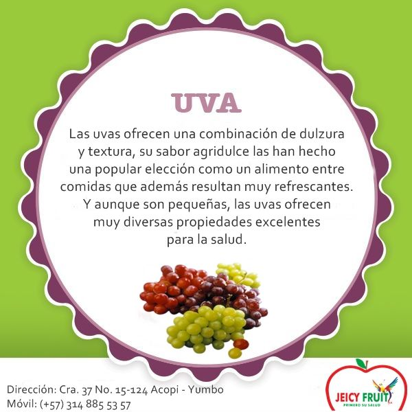 Los antioxidantes presentes en las uvas son de distintos tipos, algunos bastante convencionales como la vitamina C y el manganeso, y otros más complejos como el resveratrol, las antocianinas y la quercetina. En realidad, la cantidad de antioxidantes que poseen las uvas pueden contarse hasta por cientos.