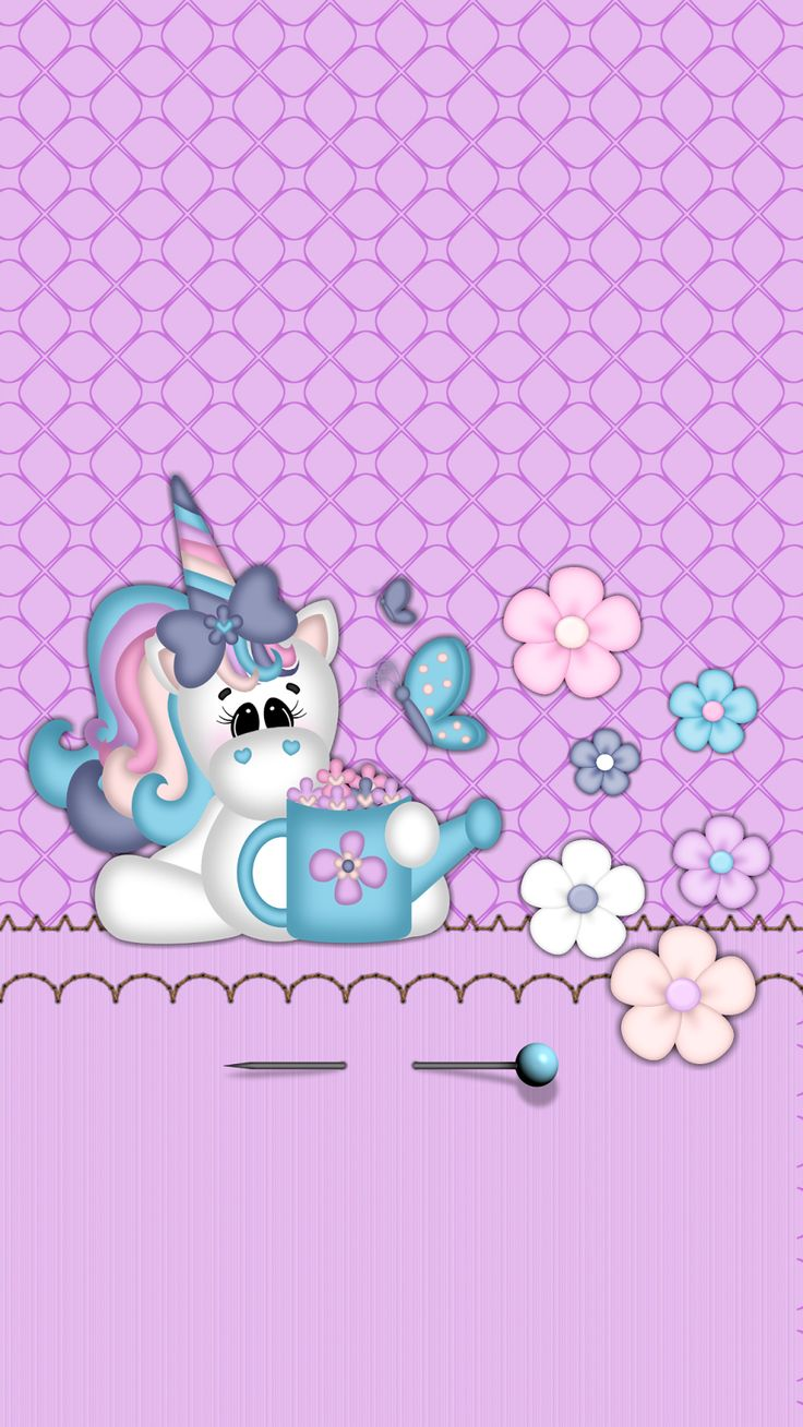 Dazzle My Droid: Freebie Unicorns In Bloom Wallpaper Collection