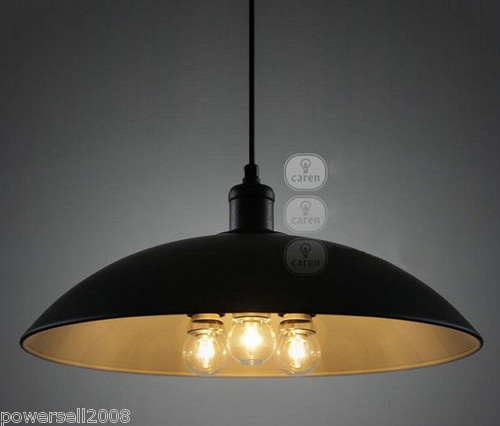 Simplicity Modern 3*Lights Black Metal Diameter 43 CM Droplight Hanging Lamp
