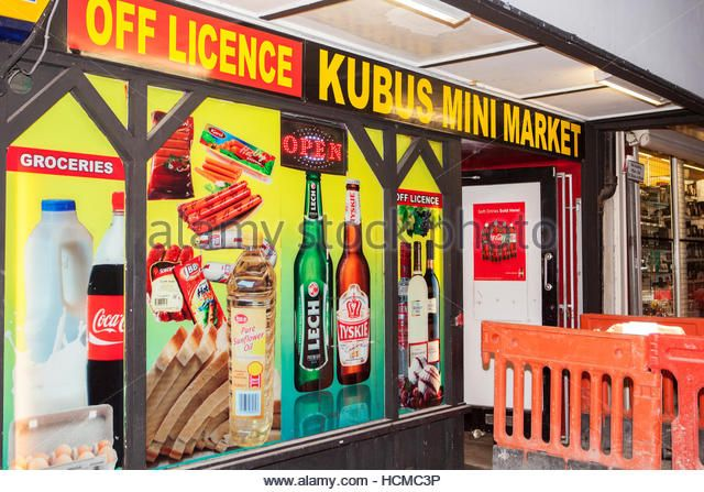 Polish off licence super market in Chester city centre - Stock Image