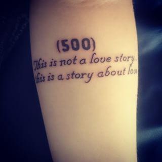 Cette simple citation de (500) jours ensemble:   32 magnifiques tatouages inspirés par des films