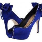 mavi burnu açık süet abiye ayakkabı modelleri