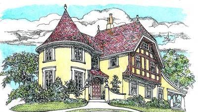 Plan 11605GC: Turreted Tudor Cottage