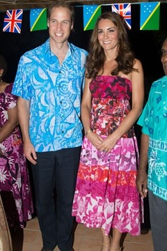 Kate Middleton and Prince William rock crazy prints