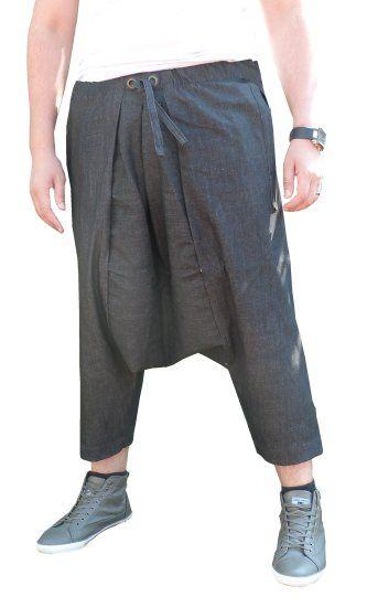 Pantalon sarouel jeans Al-Haramayn Deluxe avec ceinture à passant semi élastique pour homme - Modèle Cordon - Prêt à porter et accessoires sur RevedOrient.com