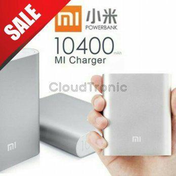 powerbank xiaomi 100% original 10400 mah - silver