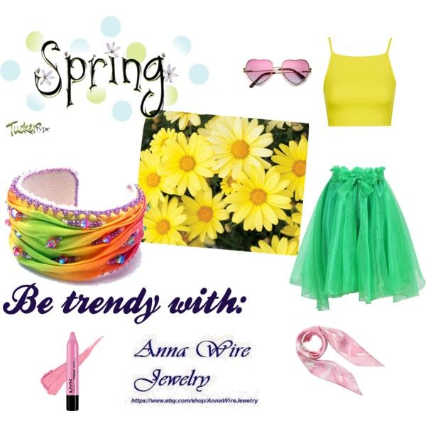 Colorful spring trend! by annawirejewelry on Polyvore featuring Topshop and Valentino