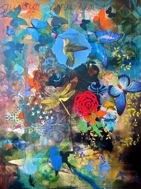 Mind Body Spirit Odyssey: Mind Body Spirit Artist Interview: Fernanda Gonzalez  #art #collage #mixed media