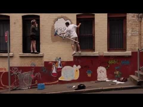 wheatpaste street art, sydney australia