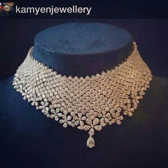 A stunning diamond choker #Repost from @kamyenjewellery with @repostapp