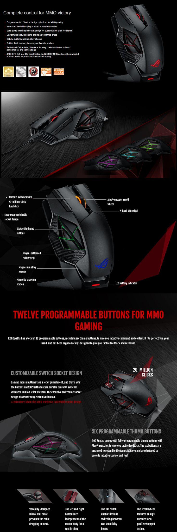 ASUS SPATHA Gaming Mouse - Computer Lounge