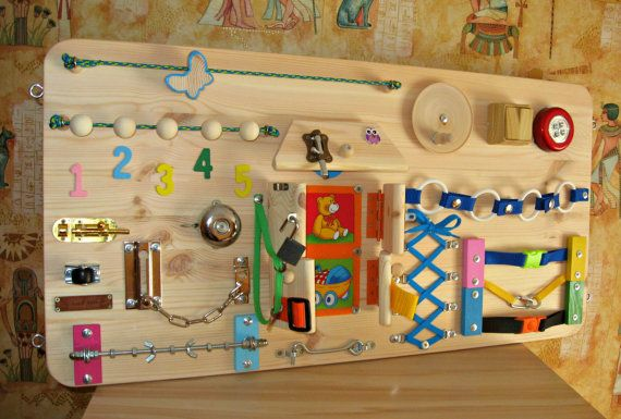 Busy Board  ,  Childrens Activity Toy, Sensory Game , Wooden Toy, Toddler Busy Board