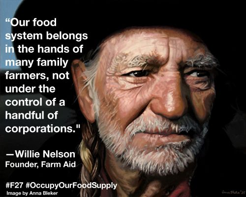 #F27 is here. 60+ Occupy groups. 30+ organizations.   Willie Nelson, Dr. Vandana Shiva, Anna Lappé, you, me.  Let's Occupy Our Food Supply! occupyourfoodsupp...
