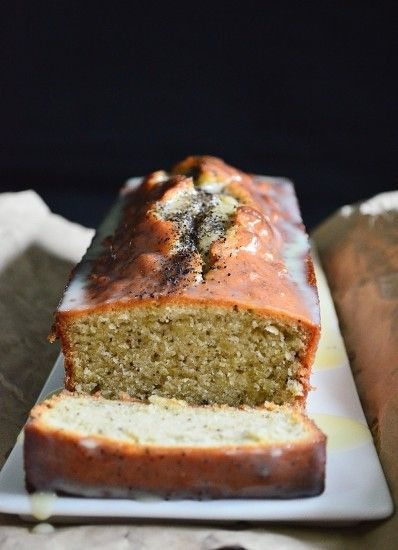 Earl Grey tea loaf with white chocolate ganache
