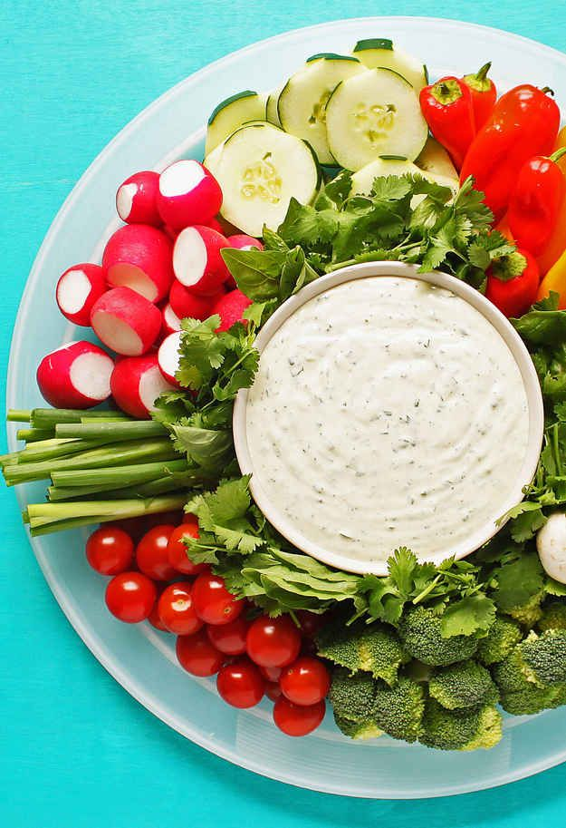 Homemade Ranch Dressing and a Veggie Tray | 23 Essential Snacks Every Super Bowl Party Should Have