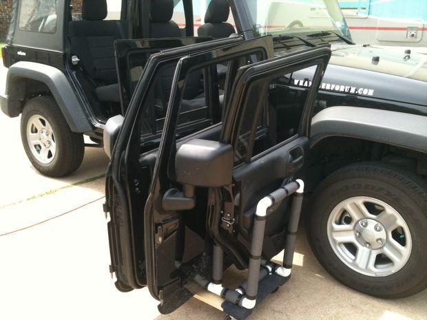 Jeep Wrangler 4 Door Rack  Door rack Jeeps and Doors