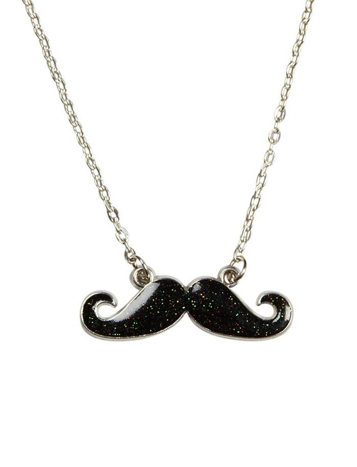 Mustache Charm Necklace   Necklaces   Jewelry   Shop Justice