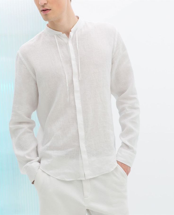 ZARA - MAN - LINEN SHIRT WITH MAO COLLAR 199