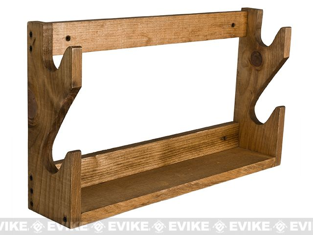 Evans Sports Traditional Solid Wood Rifle / Gun Rack - 2 Long Guns