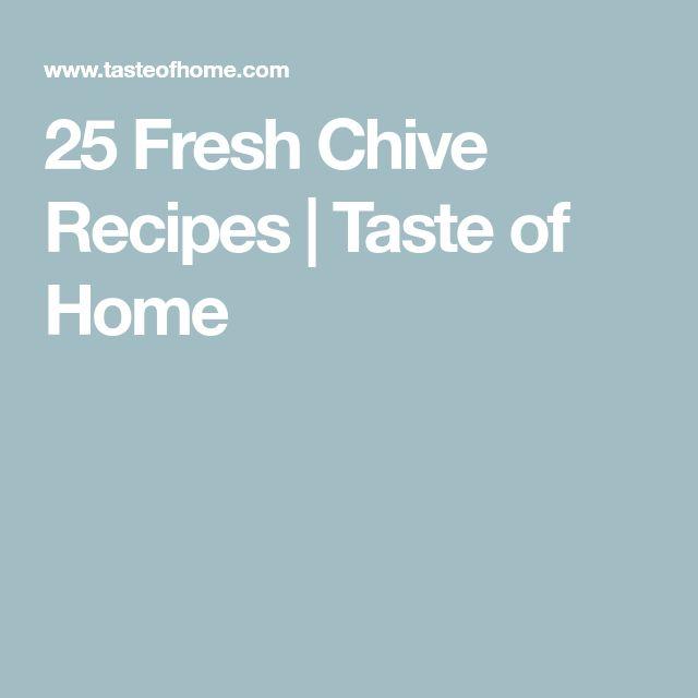 25 Fresh Chive Recipes