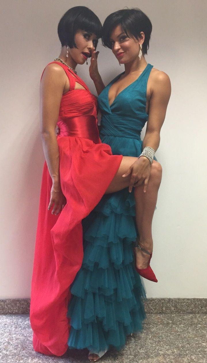 Grand Hotel Chiambretti Danah e Carla Indossano abiti Pastore Couture Collezione 2015 #couture #endorsement #celebrities #pastorepress #etabetapr etabetaprendorsement #atelierpastore #collezione2015