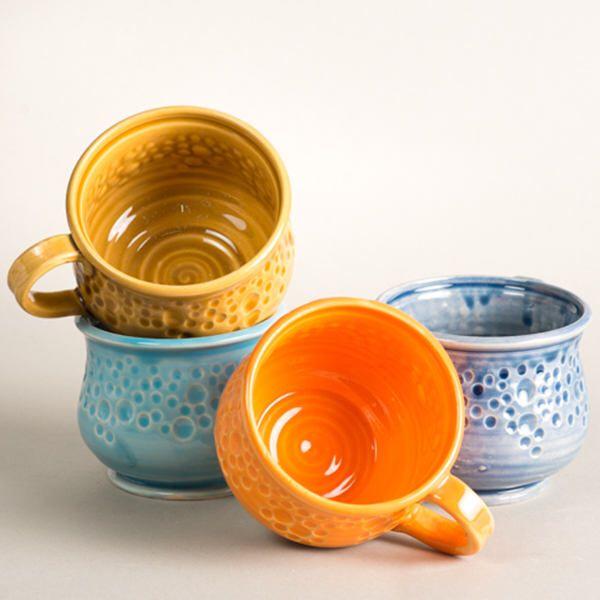 Ceramic mugs, coffee mug, large ceramic coffee mug, tazza grande, tazza da te, tazza ceramica, orange coffee mug, blue coffee mug, tea mugs di PokutskaKeramika su Etsy https://www.etsy.com/it/listing/555757522/ceramic-mugs-coffee-mug-large-ceramic