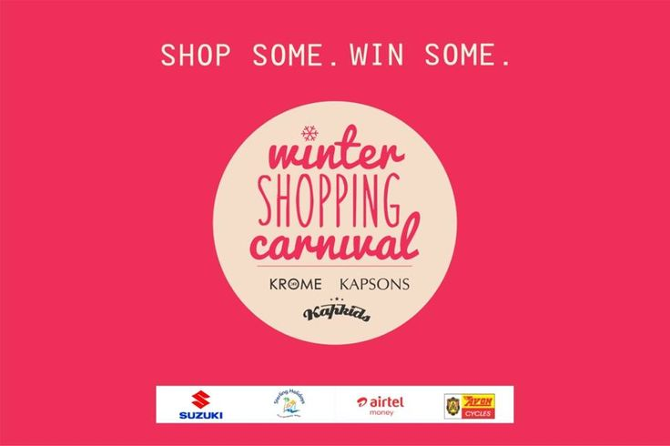 Festive shopping is fun and it can win you prizes too. How?  Shop at Kapkids and be a part of Winter Shopping Carnival to win exciting prizes from Suzuki, Sterling Holidays, Airtel, Avon Cycles and more.  #Kapkids #ShopAtKapkids #WinterShoppingCarnival