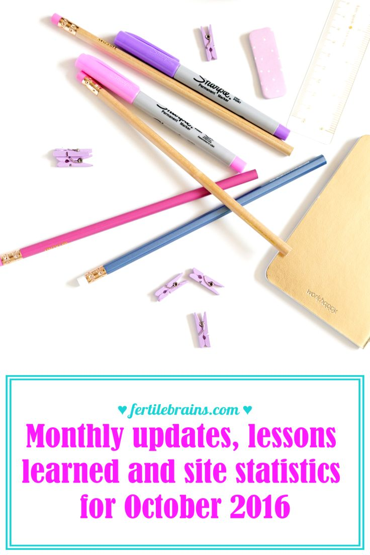 Monthly updates lessons learned and site statistics for October 2016 Blogging 101 Site Statistics blogging tips monthly site stats traffic reports