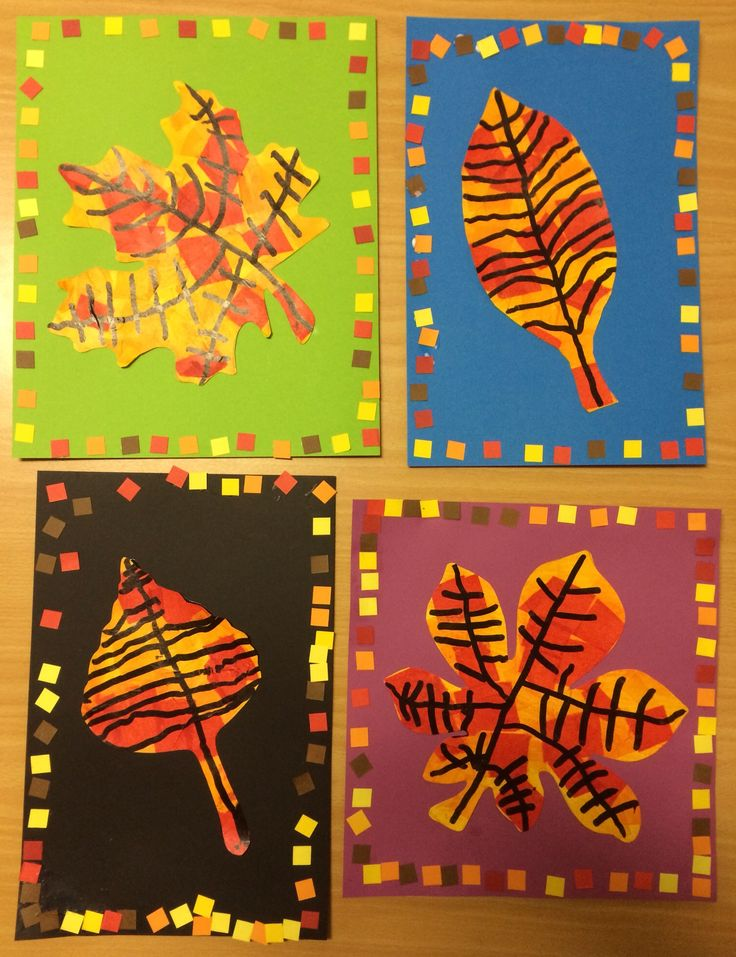 Beautiful fall leaves. Love the borders! Grade 2