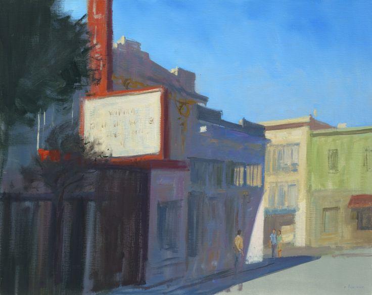 San Francisco / Cinema de Fillmore street, huile sur toile 92cm x 73cm