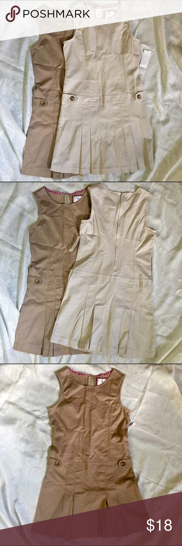 Old Navy Girls Khaki Dress. Cute Brown and Cream Khaki dress for girls. Size 12. NWT. 98% cotton, 2% spandex. Old Navy Dresses Casual