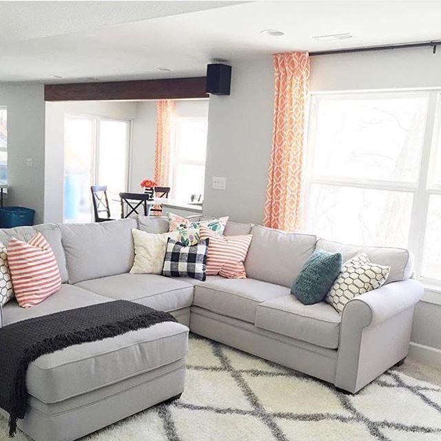 Crisp And Clean Gray Living Room Home Pinterest Gray Living