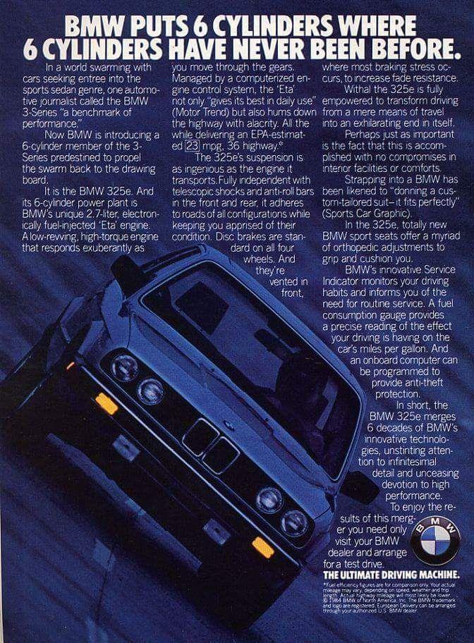BMW 325e ad