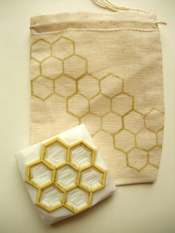 beehive hand carved rubber stamp - geometric rubber stamp - hand carved stamp - honey comb rubber stamp.