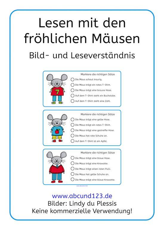 Lesen mit den Mäusen #lesen #freebie #DAF #DAZ #Leseförderung