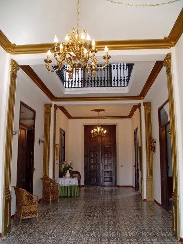 Empfangshalle des Herrenhauses Palacio de Pego an der spanischen Costa Blanca ...