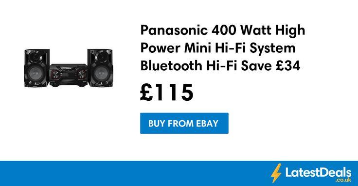 Panasonic 400 Watt High Power Mini Hi-Fi System Bluetooth Hi-Fi Save £34, £115 at ebay