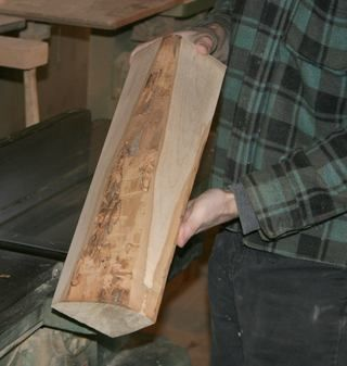 Hardwood lumber from firewood