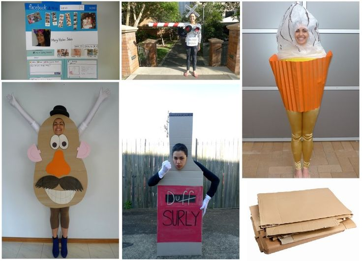how to make apple costume using cardboard